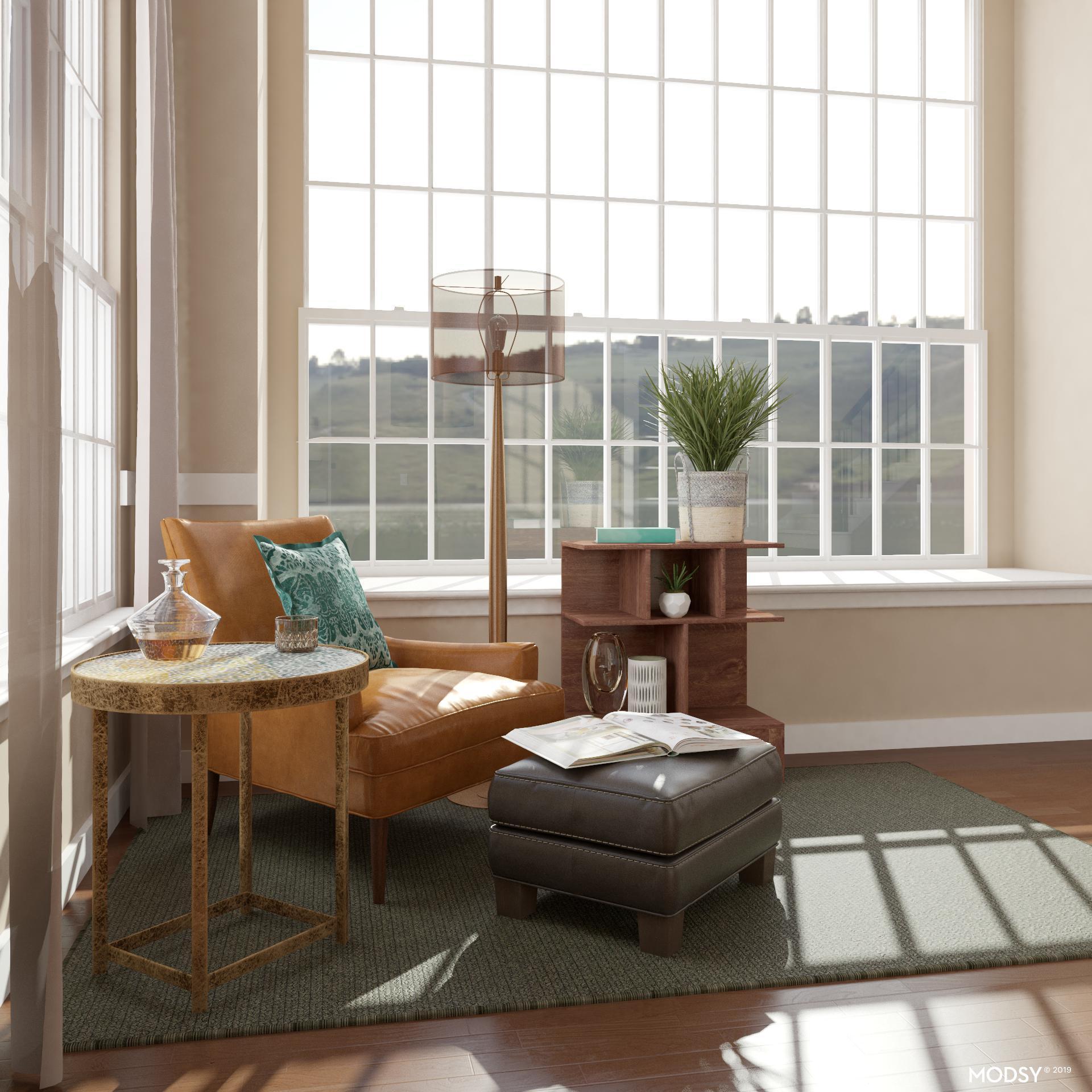 Minimalist Office With Deep Earthy Tones