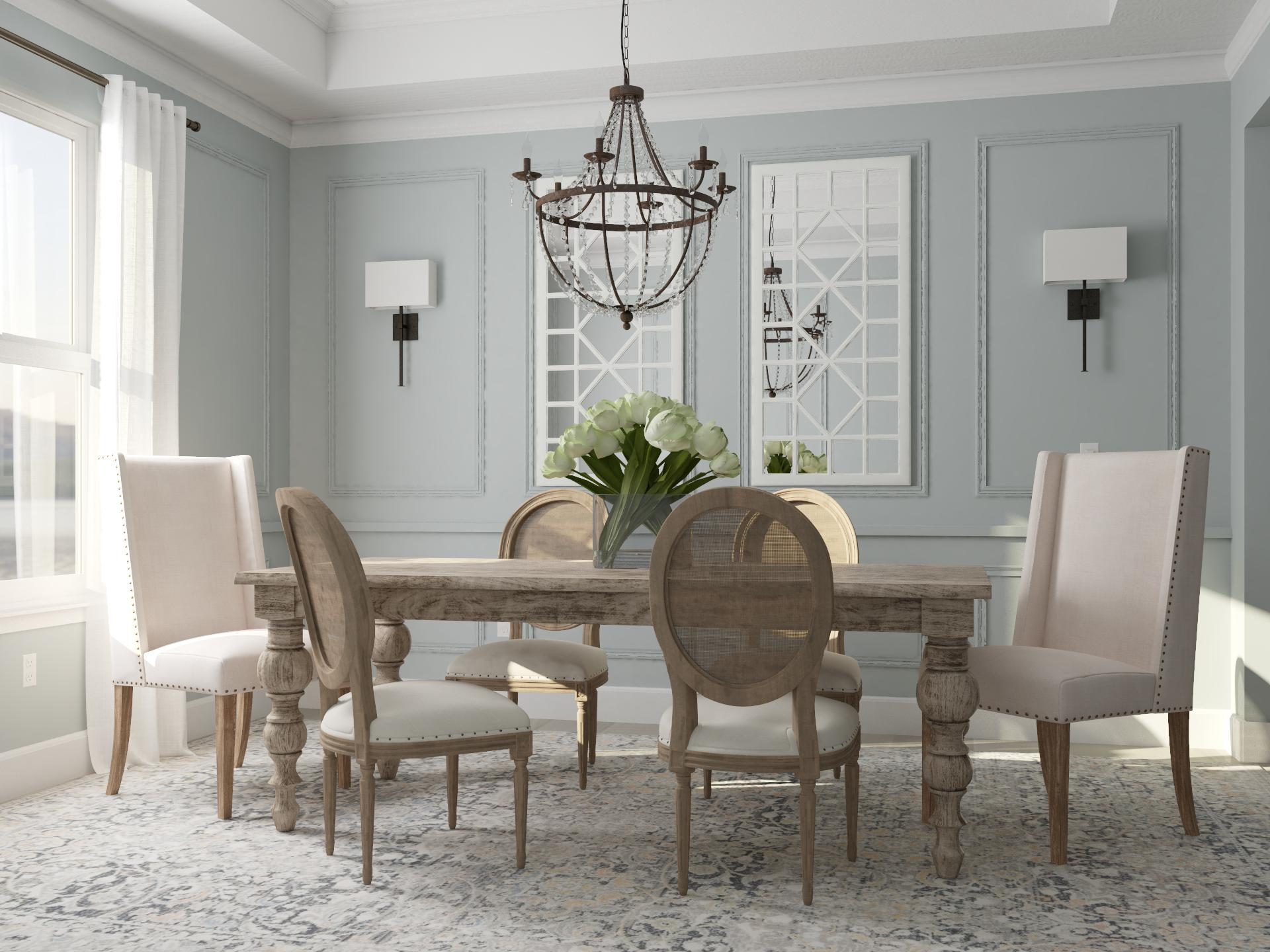 Elegant Symmetry   Traditional-Style Dining Room Design Ideas