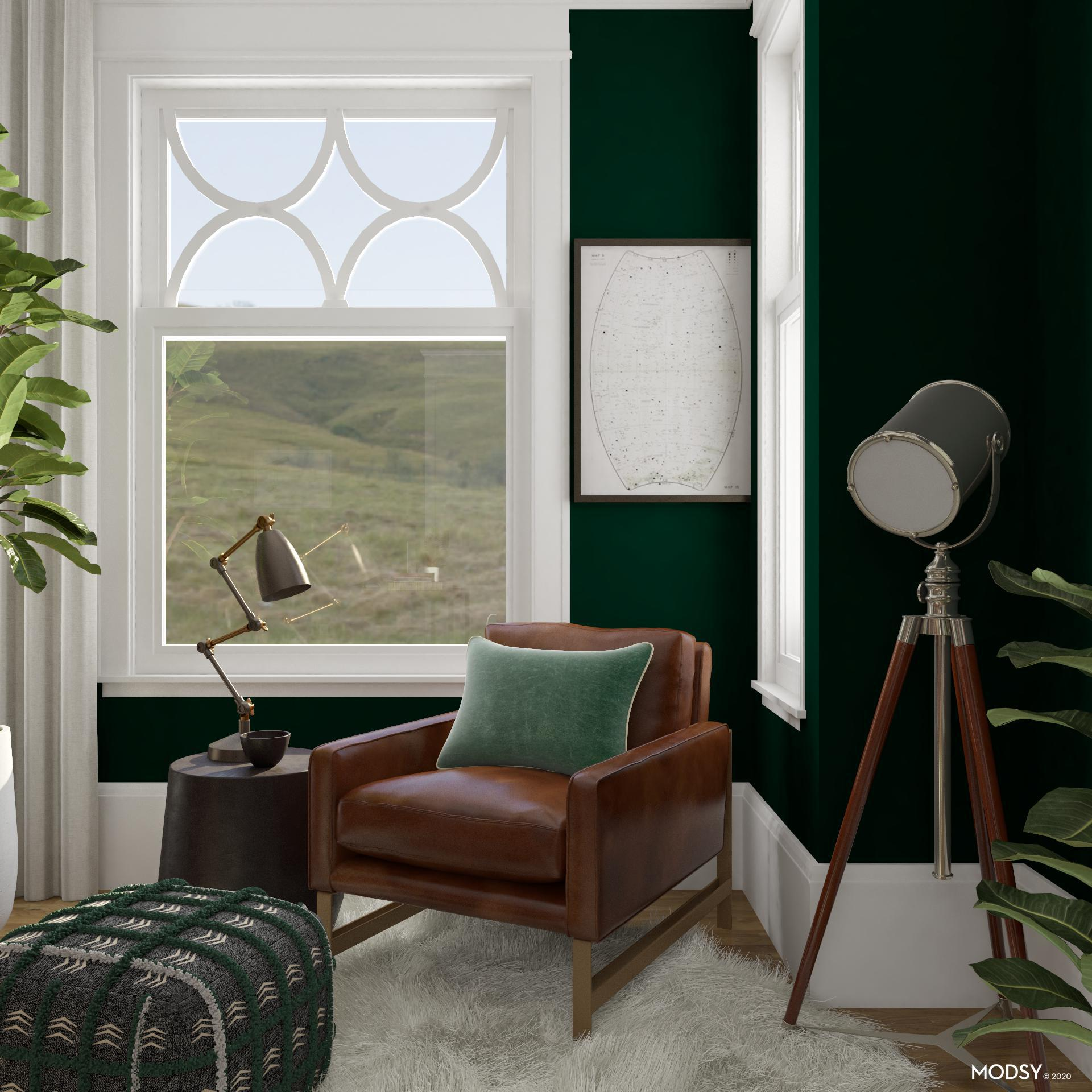Green Home Design Ideas: Green Home Office: Cozy Nook