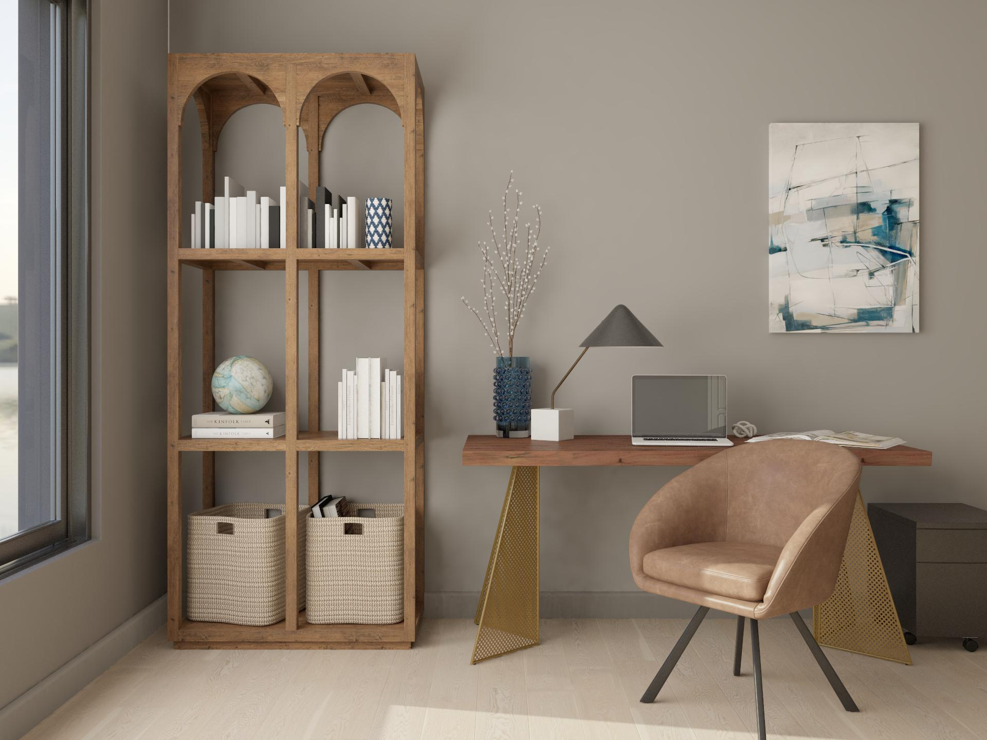 Modern Office Earth Tones Contemporary Style Home