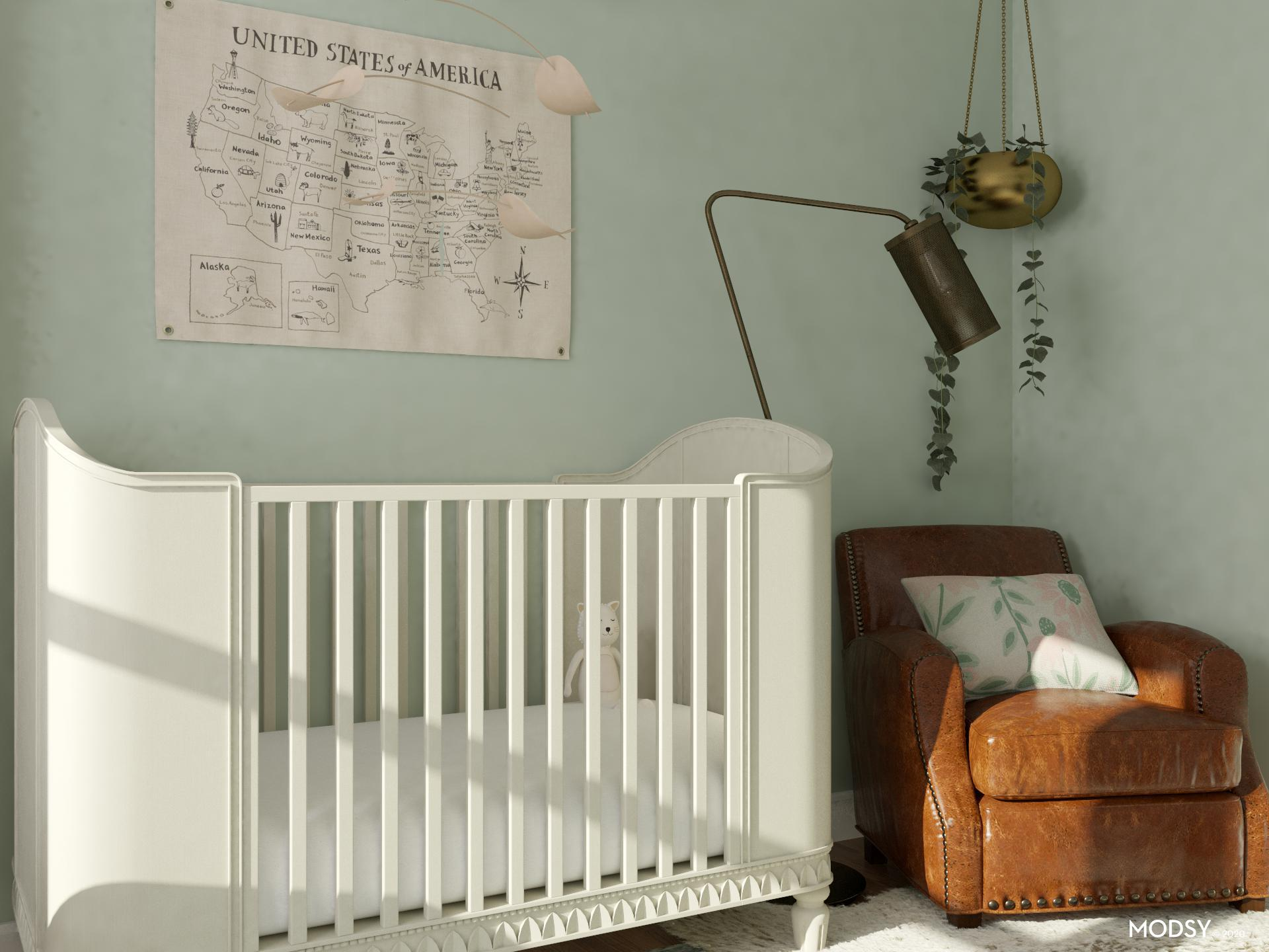 Gender Neutral Baby Room Traditional Classic Style