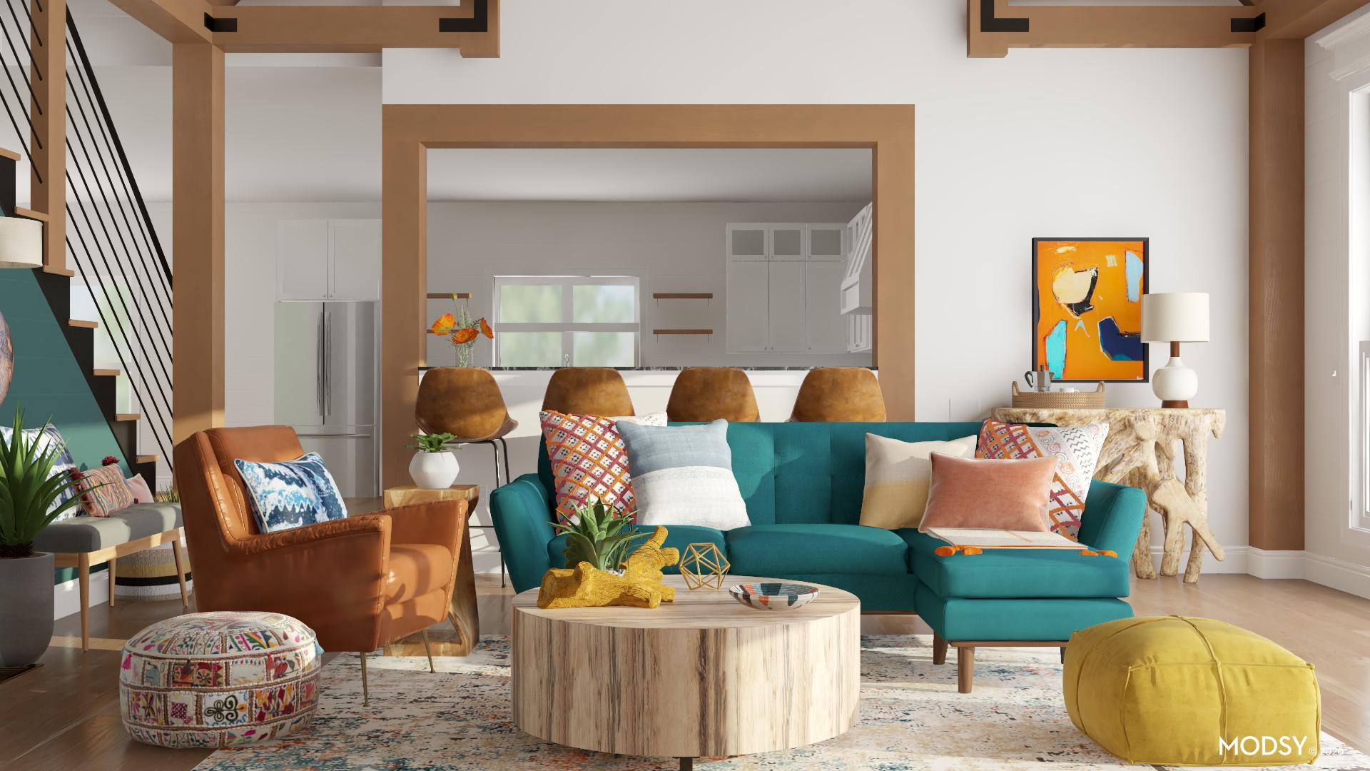 bold and brash eclectic living room  eclecticstyle