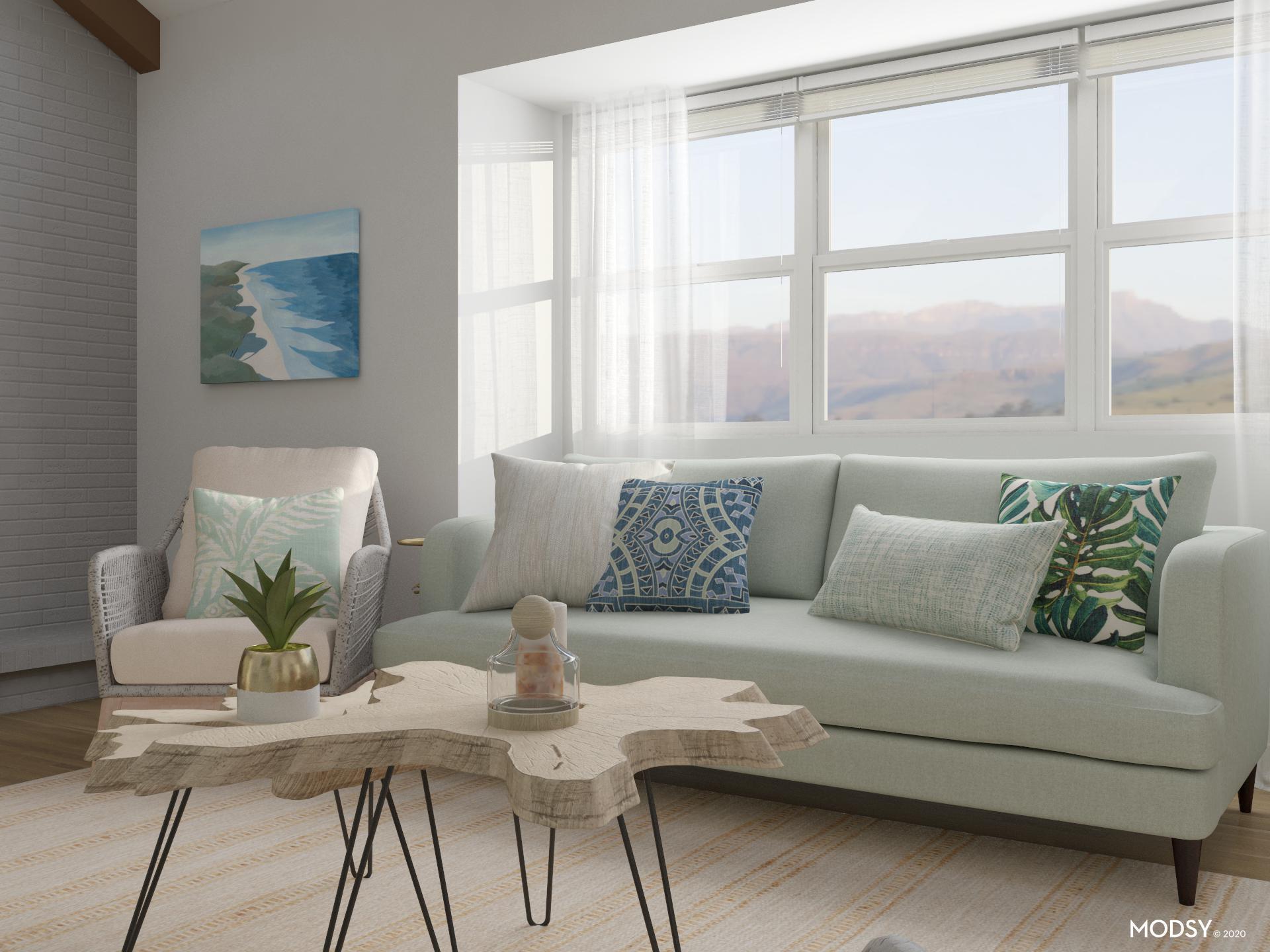 soft green coastal living room  coastalstyle living room