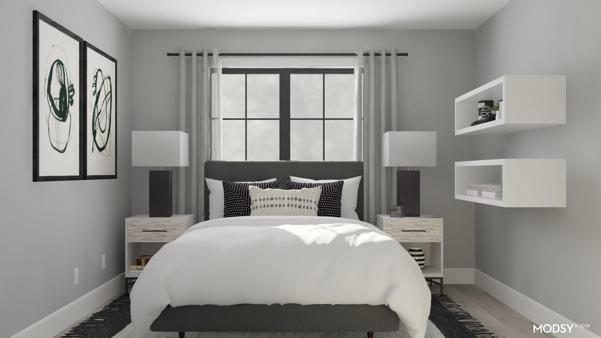 Masculine Oasis Contemporary Style Bedroom Design Ideas