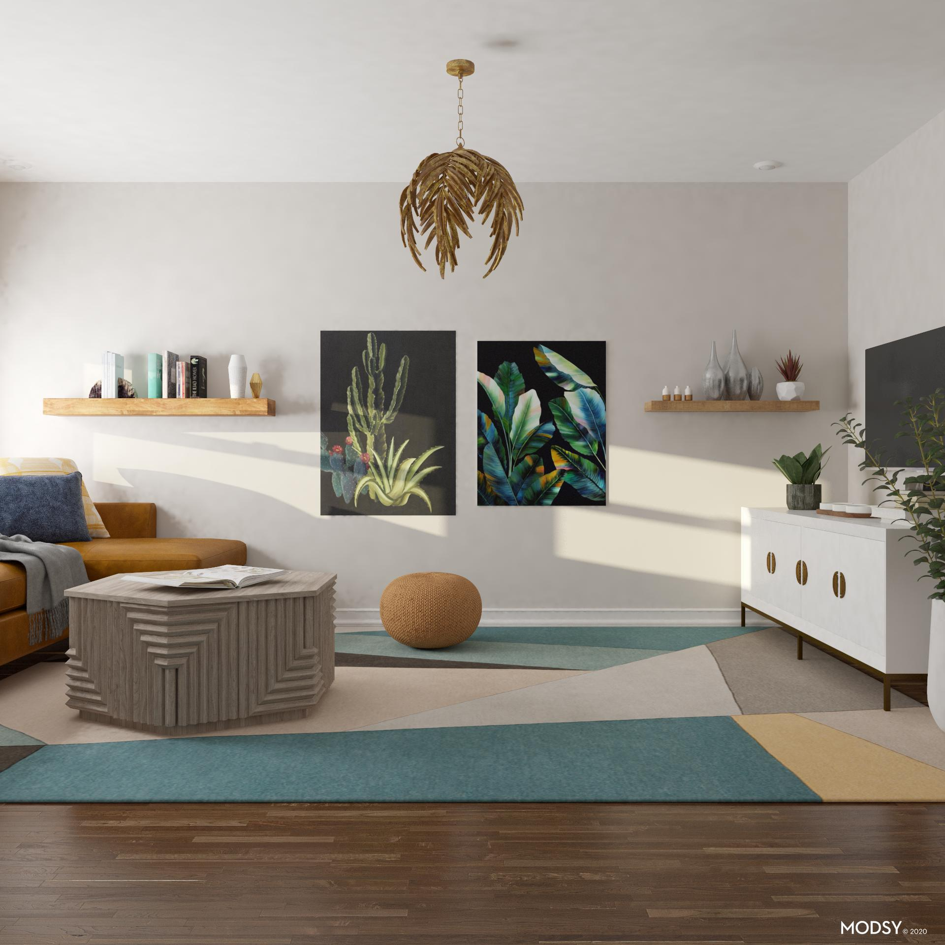 jungle jewel tones  eclecticstyle living room design ideas
