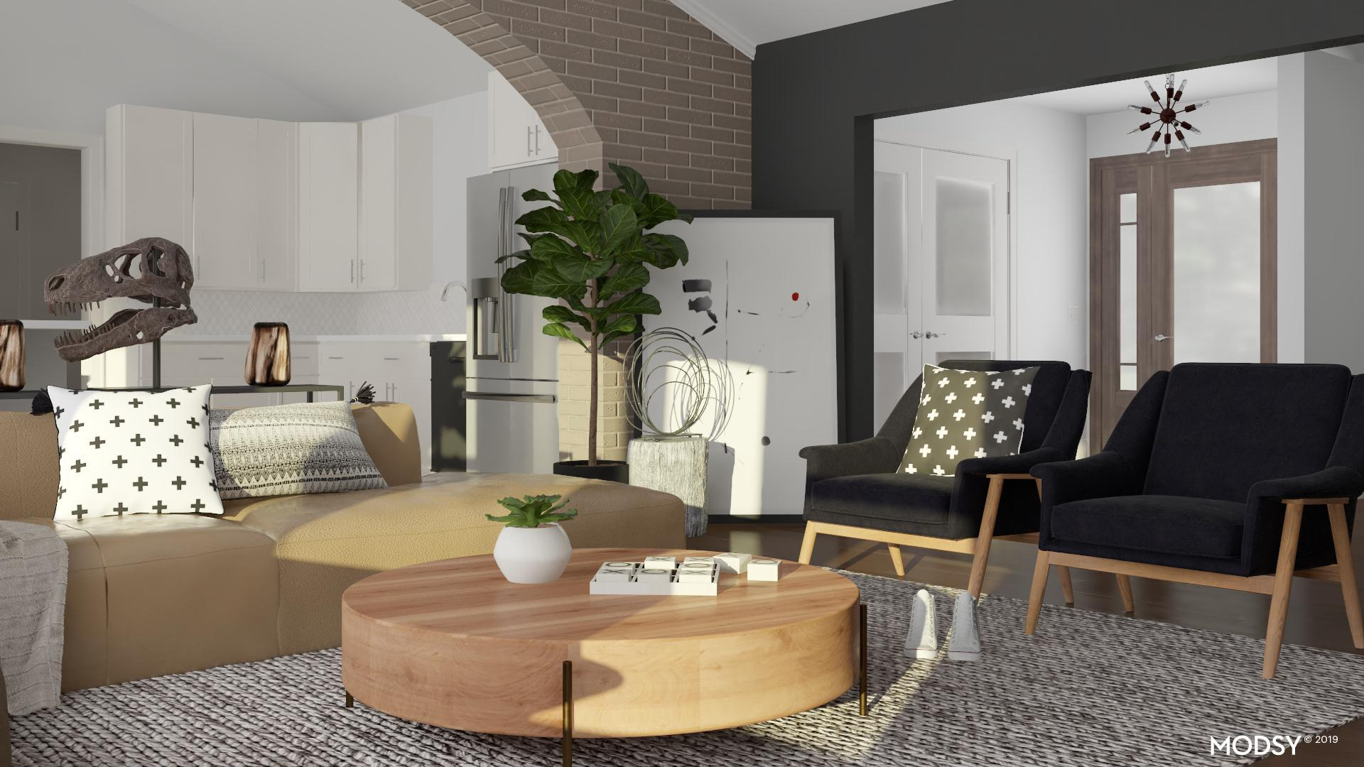 Picture of: Casual Confident Living Room Industrial Style Living Room Design Ideas