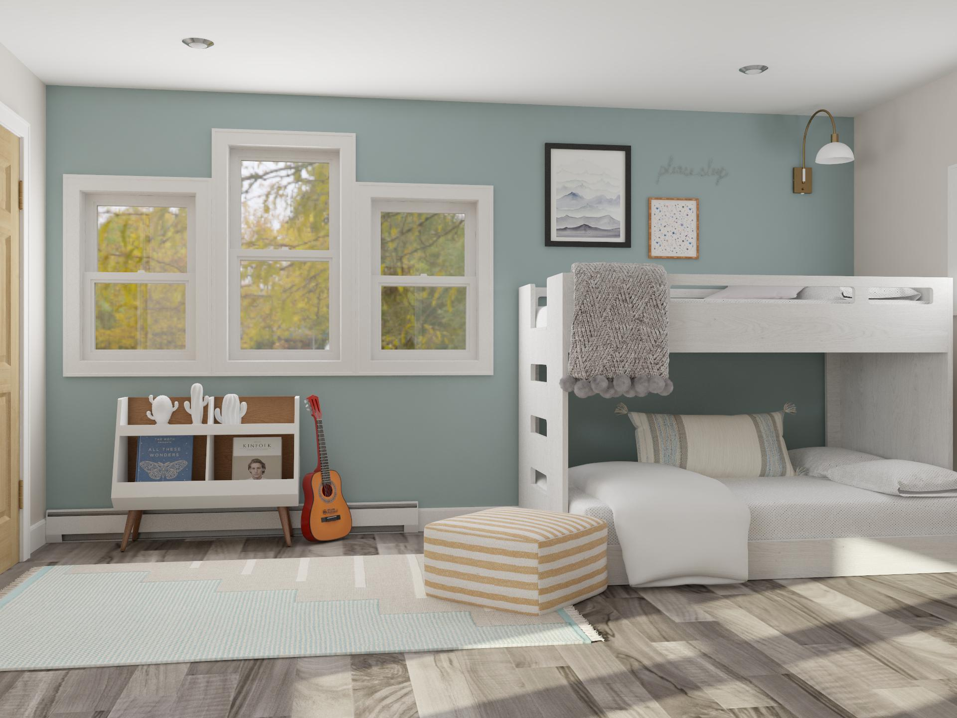 Cozy Bunk Beds In Modren Pastel Bedroom Modern Style Kids Room Design Ideas