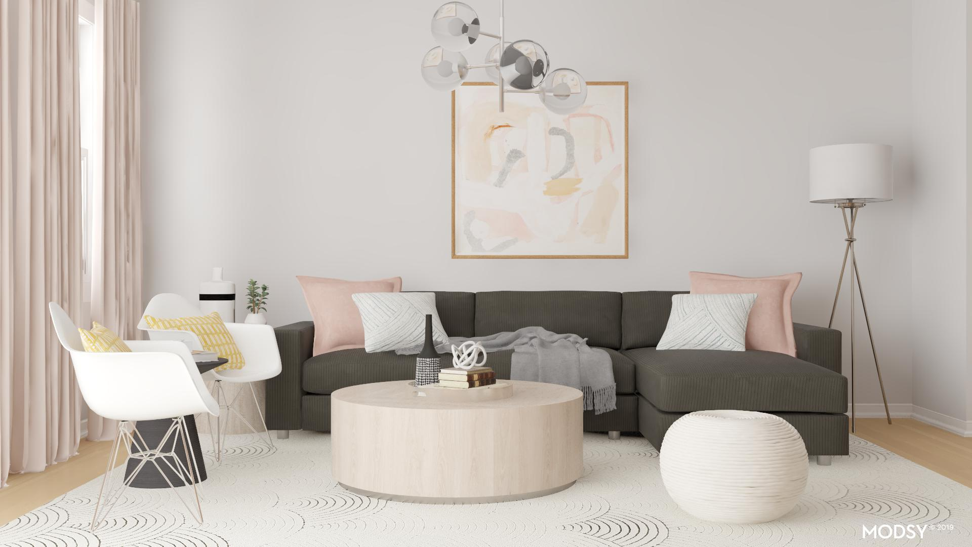 sleek feminine living room styling  modernstyle living