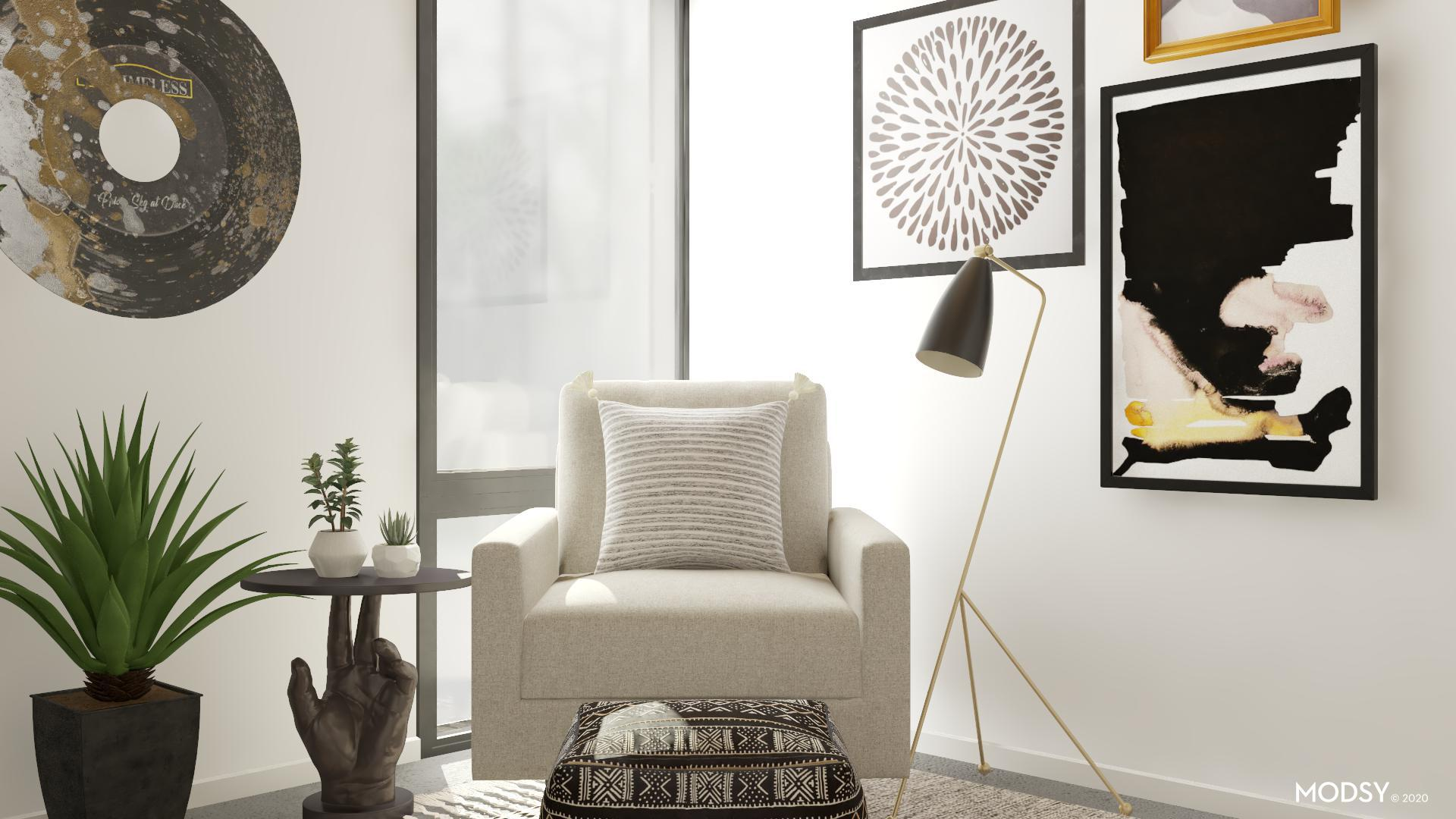 Eclectic Reading Nook Black Amp White Style