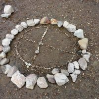 Medicine wheel at Lk Rodway