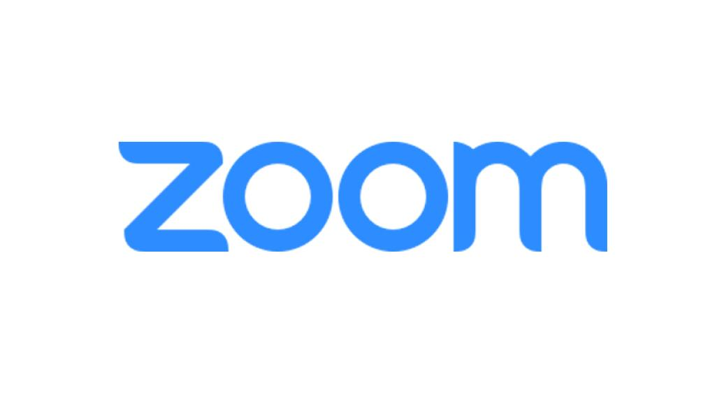 """Blue text reading """"zoom"""""""