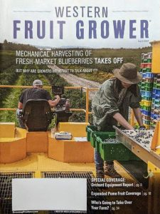 """Cover of """"Western Fruit Grower"""" magazine."""