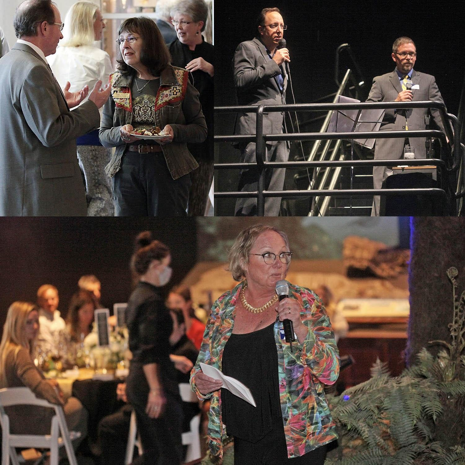 A photo collage numerous board members speaking or networking to raising money for the museum.