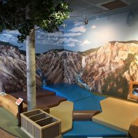 Grand Canyon of the Yellowstone toddler padded play area.