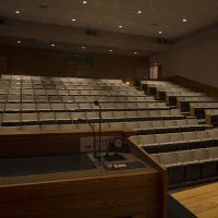 A view from the podium of the 200 seats in the Hager Auditorium.