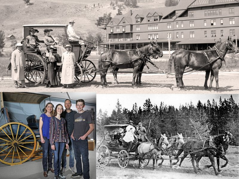 a member family and historic Yellowstone NP stage coaches