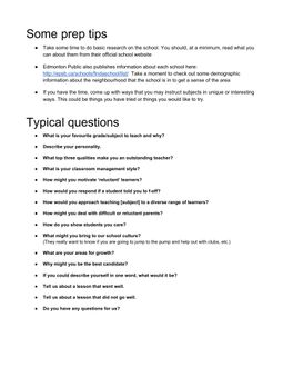 interview prep questions