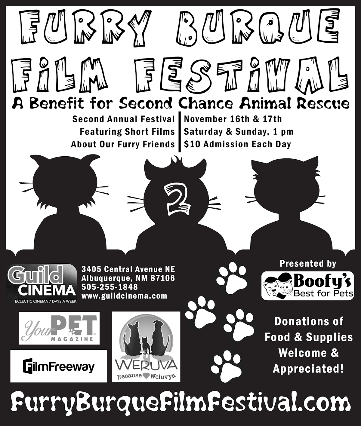 2nd Annual Furry Burque Film Festival Event Poster