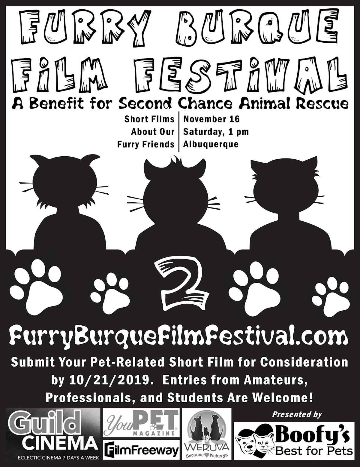 Submit your pet-related short film to the 2nd Annual Furry Burque Film Festival