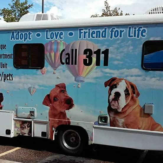 Lucky Paws Mobile Adoption Van