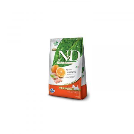 N&D GRAIN FREE CANINE - PESCADO Y NARANJA ADULT MINI