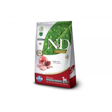 N&D GRAIN FREE CANINE -POLLO Y GRANADA ADULT MEDIUM
