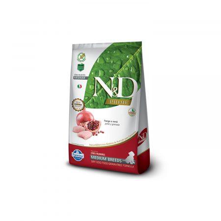 N&D GRAIN FREE CANINE - POLLO Y GRANADA PUPPY MEDIUM