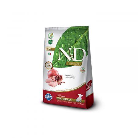 N&D GRAIN FREE CANINE - POLLO Y GRANADA PUPPY MINI