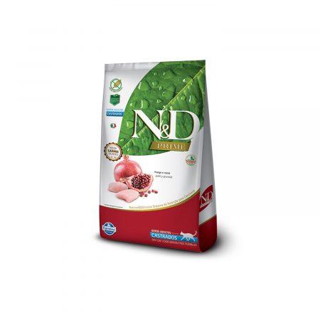 N&D PRIME FELINE - ADULTO CASTRADOS - POLLO Y GRANADA