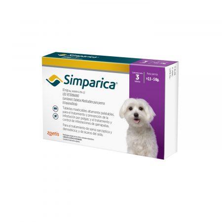 Simparica 10 mg - 2.5 a 5 KG - Antiparasitario Externo