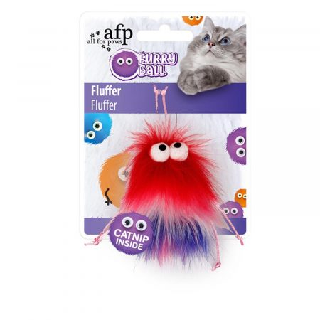 AFP FURRY BALL FLUFFER ROJO