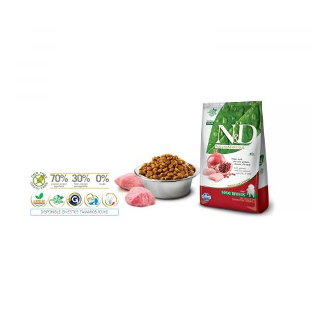 N&D PRIME CANINE - POLLO Y GRANADA PUPPY MAXI