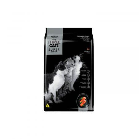THREE CATS SUPER PREMIUM - GATOS CASTRADOS 6 MESES + - SALMON