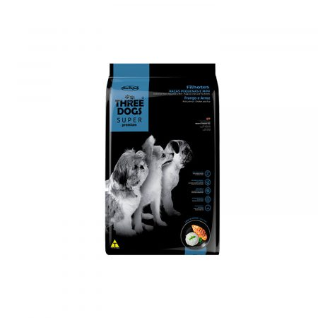THREE DOGS - Cachorros Razas Pequeñas y Mini – Pollo y Arroz