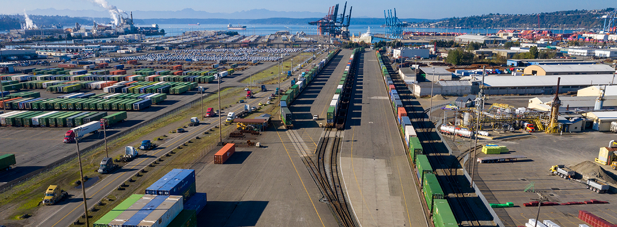 South Intermodal Yard in Tacoma, Washington.
