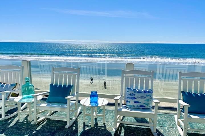 Seaglass Beach House; 5 Bed Beachfront Rental w/ Private Beach Access, Fire Ring