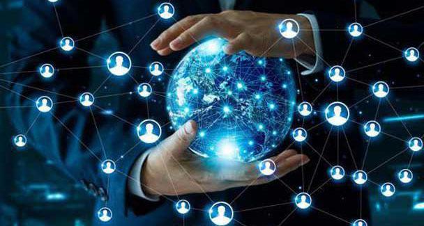 Businessman global networks 1