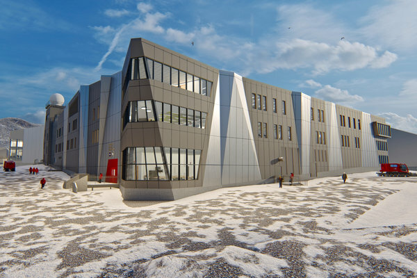 One of the proposed designs to refurbish and update the McMurdo base.