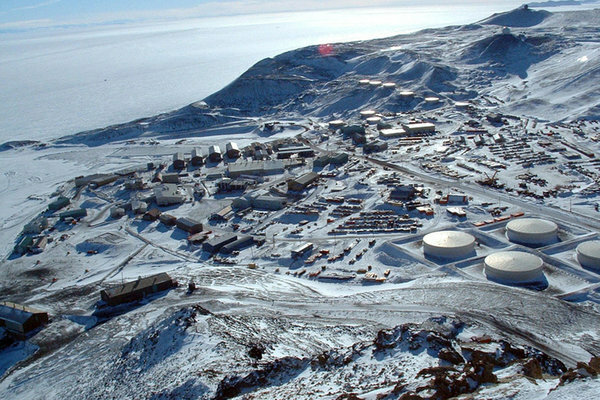 The National Science Foundation's McMurdo Station, the logistics hub of the U.S. Antarctic Program. Established in 1956, it has become sprawling and energy-inefficient.