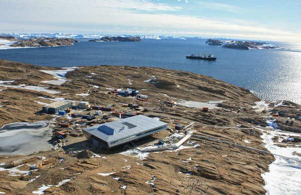 Bharati, one of India's two active research stations in Antarctica.