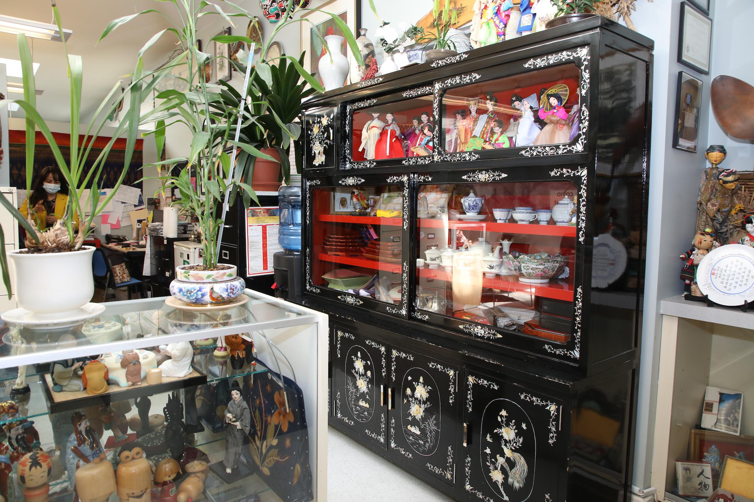 photo of an art display