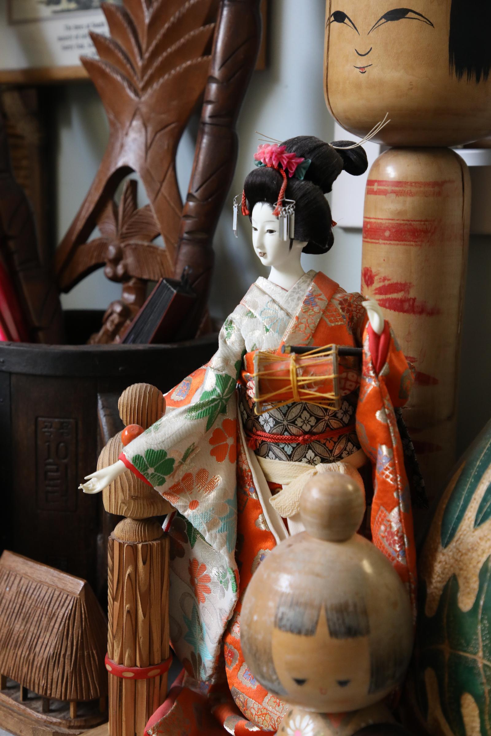 photo of a Japanese figurine
