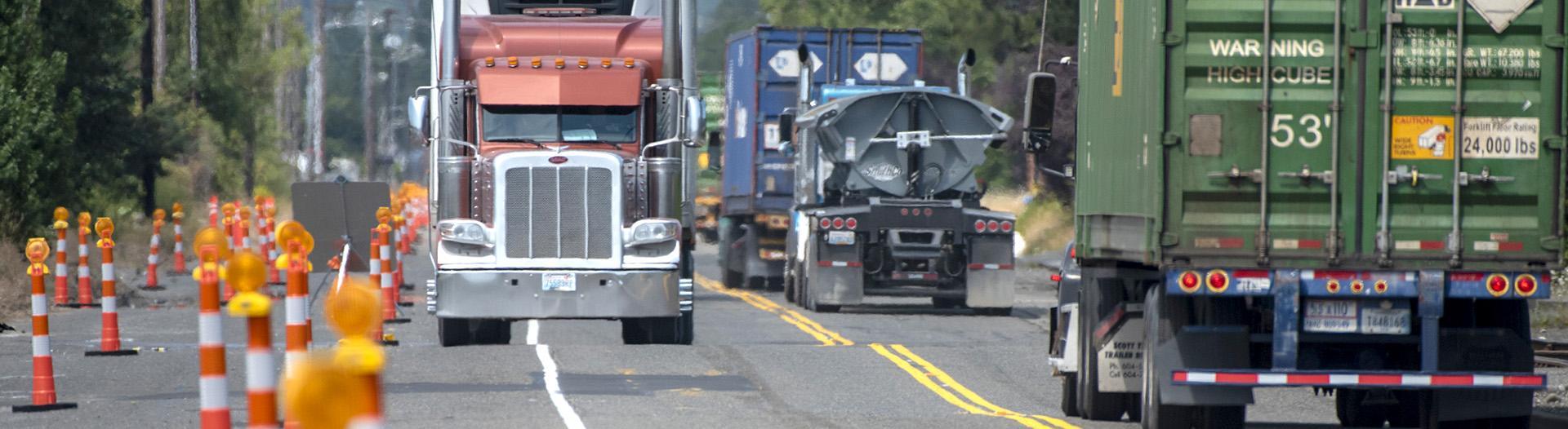 Trucks on Taylor Way