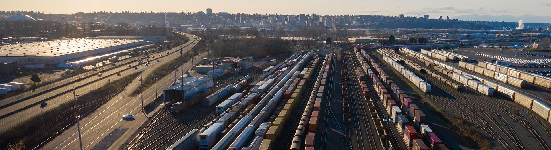 photo of a rail yard