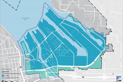 map of the Tacoma Tideflats