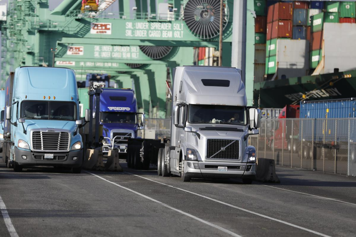 photo of trucks