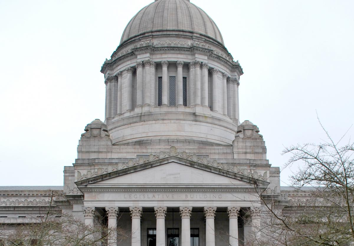 photo of the Washington State Capitol Building in Olympia