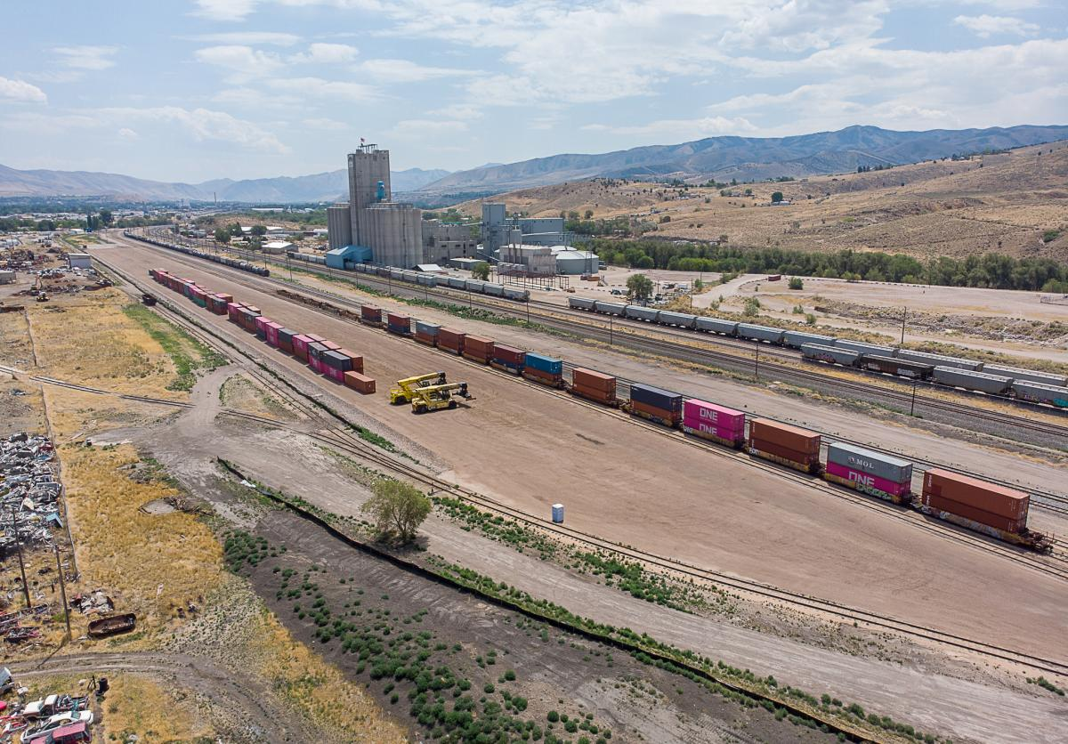 Pocatello rail yard completed