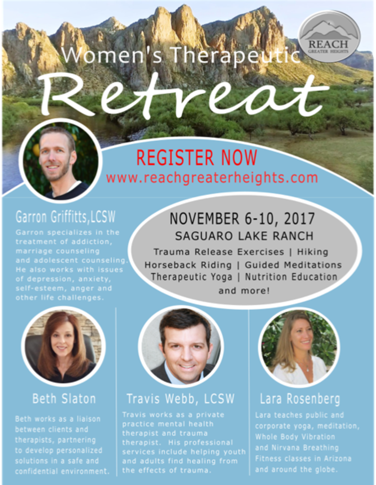 Reach Greater Heights Women S Therapeutic Retreat Event Retreat