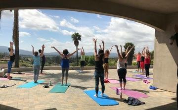 Ladies yoga & wine retreat in the vineyards